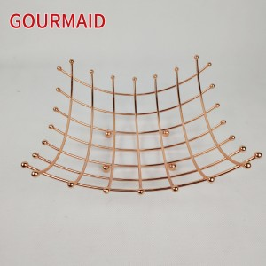 Rose Gold Square Grid Fruit Basket