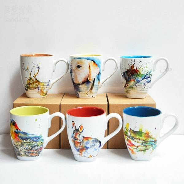 picture relating to Printable Mugs Wholesale called China Immediate shipping 5.5\u201d ceramic bowl - Animal style ink