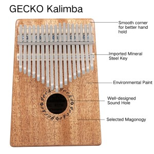 2019 China New Design Gs-7 Hebikuo African Thumb Piano 17 Key Mahogany Kalimba Thumb Piano For Sale