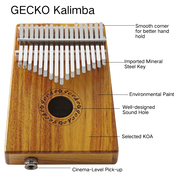 Gecko Kalimba K17K with EQ | best kalimba | GECKO Featured Image