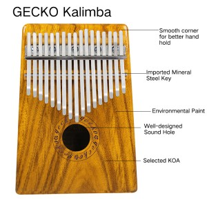 2019 Latest Design Gecko Electric 17 Keys Kalimba K17meq With Eq Mbira Kalimba Sanza Thumb Piano Musical Instrument Music Toy Music Box