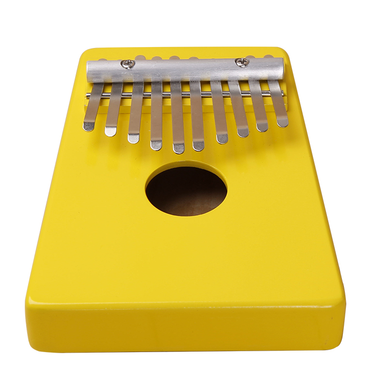 10 Keys Kalimba Mbira Likembe Sanza Thumb Piano Pine Light Yellow Instrument Hot Selling