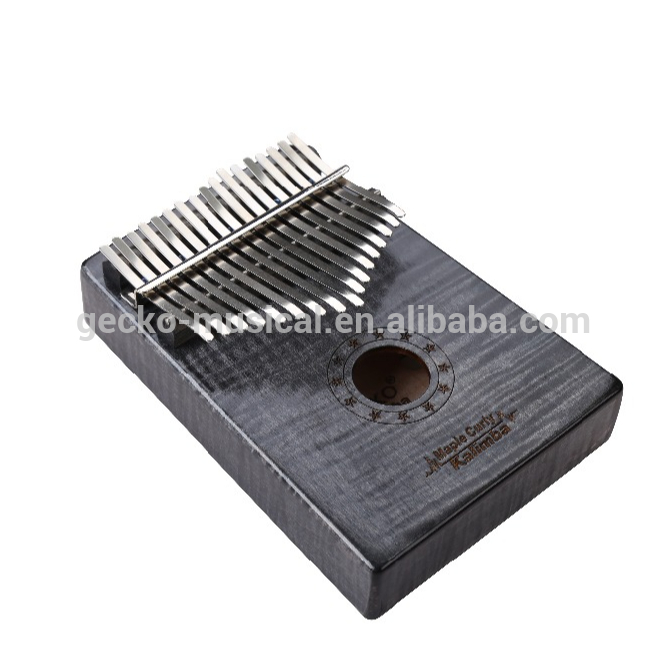 Factory Price For Guitar Shape Bag - Africa Kalimba Thumb Piano 17 keyboards/ Maple curly wooden And Metal Kalimba New – GECKO