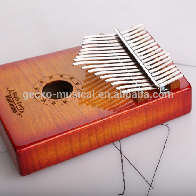Africa Kalimba Thumb Piano 17 keyboards/ Maple curly wooden And Metal Kalimba New Featured Image