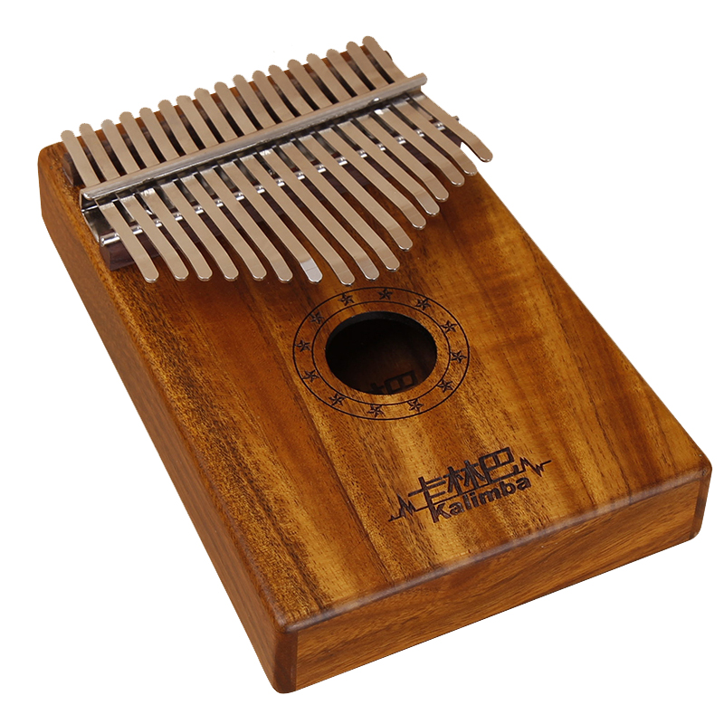 2019 China New Design Hot Sell Kalimba Instruments Musical Mini Piano Electric Kalimba Portable Thumb Piano Heart-shaped Hole Solid Finger Piano Mbira