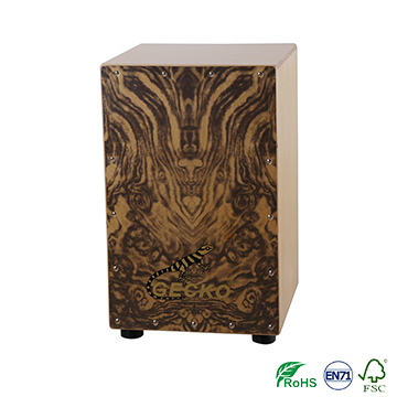 birch wood cajon in GECKO factory in China Huizhou city,percussion toys
