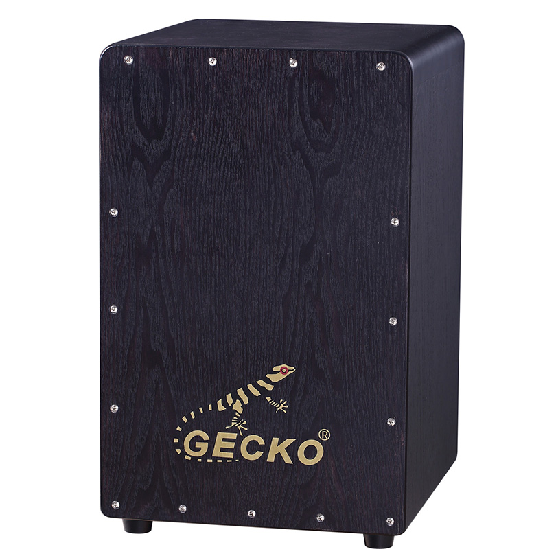 Factory Price Cajon Drum Musical Instruments - black cajon box percussion drum set musical instruments – GECKO