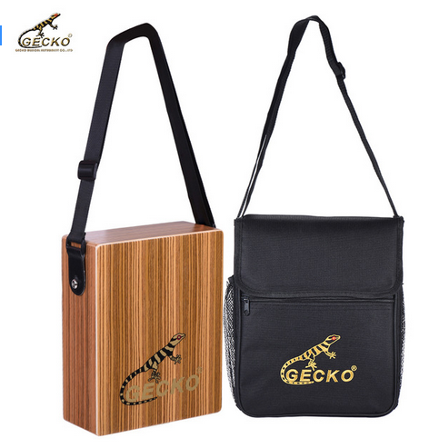 8 Years Exporter Nylon Guitar Belt - C-68Z Portable Traveling Cajon Box Drum Hand Drum Zebra Wood Percussion Instrument with Strap Carrying Bag – GECKO