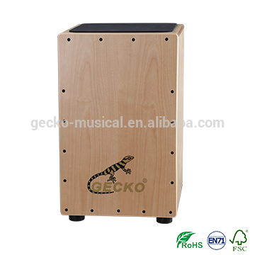 Factory Promotional Handmade Musical Instruments - gecko cajon natural wooden steel string CL14 cajon – GECKO