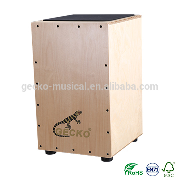 gecko cajon natural wooden steel string CL14 cajon