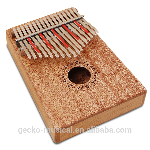 Online Exporter Wooden Percussion Instrument - gecko natural wood professional 17 keys kalimba – GECKO