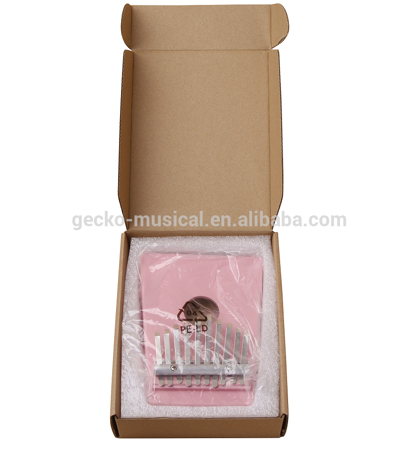 OEM Factory for Professional Cajon Factory - Gecko portable pink 10 Keys Kalimba – GECKO