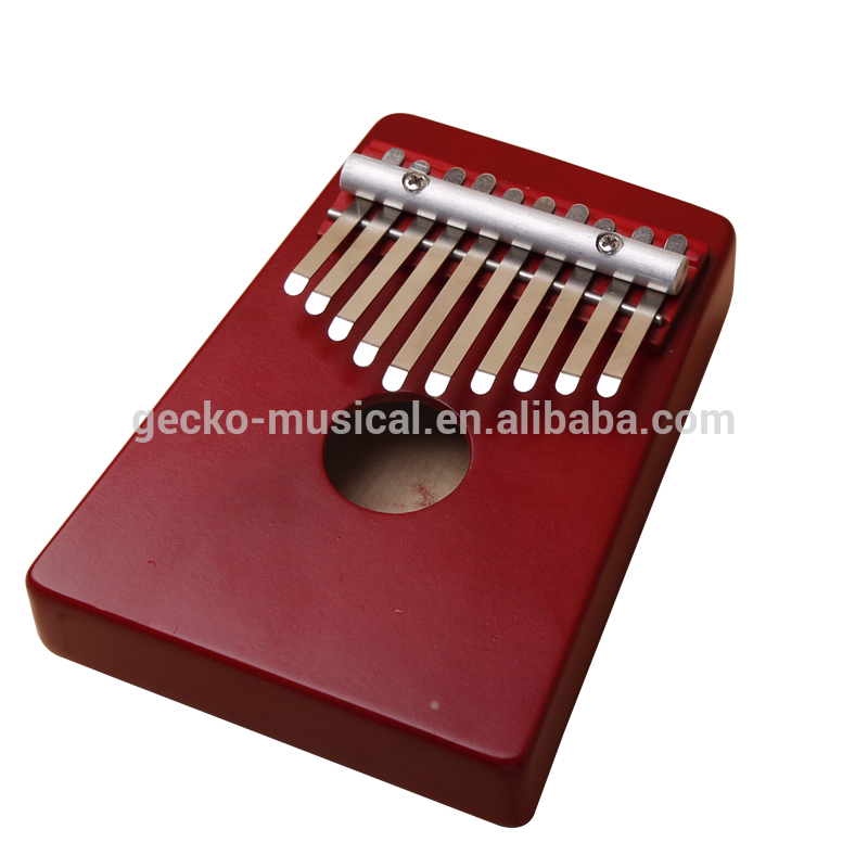 Factory best selling 26 Incht Ukulele - Gecko portable Red 10 Keys African Original Kalimba – GECKO
