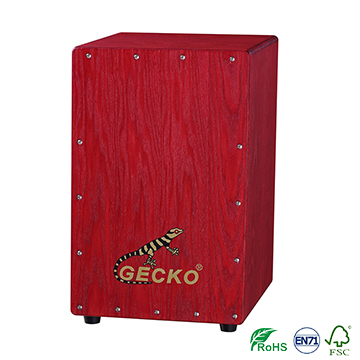 Factory directly Colored Guitar String - Handmade Decals Pattern Cajon Percussion Box Hand Drum,ash tree wood – GECKO
