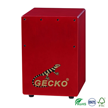 Wholesale Price China Best Drum Set Sticks - Handmade high quality Cajon Percussion Box Hand Drum red color – GECKO