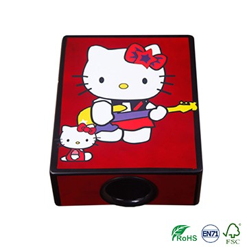 Factory Promotional Ukulele China Supplier - Hello kitty bright color for girls Travel Cajon Drum on sale – GECKO