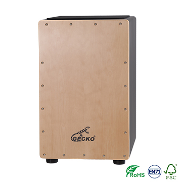 High reputation Cajon Box Drum - high quality veneer material cajon drum in black color – GECKO