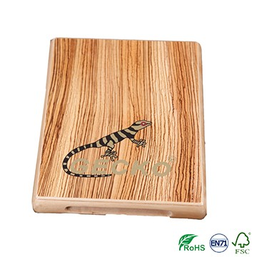 IPAD Size Thin Cajon Drum Made of Zebra Wood with Natural Color