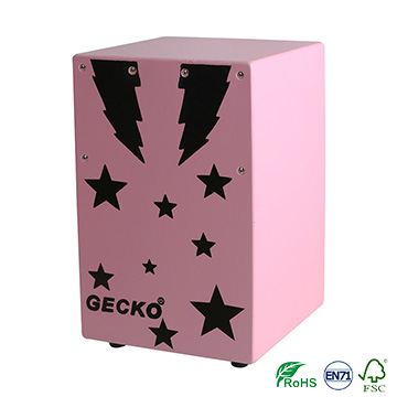 Lowest Price for Djembe Drums - jazz music cajon drum sets,promotional pink color star design for children – GECKO