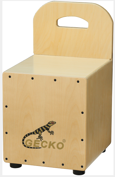 100% Original Musical Instrument Box Drum - kids cajon with backrest,stool drum – GECKO
