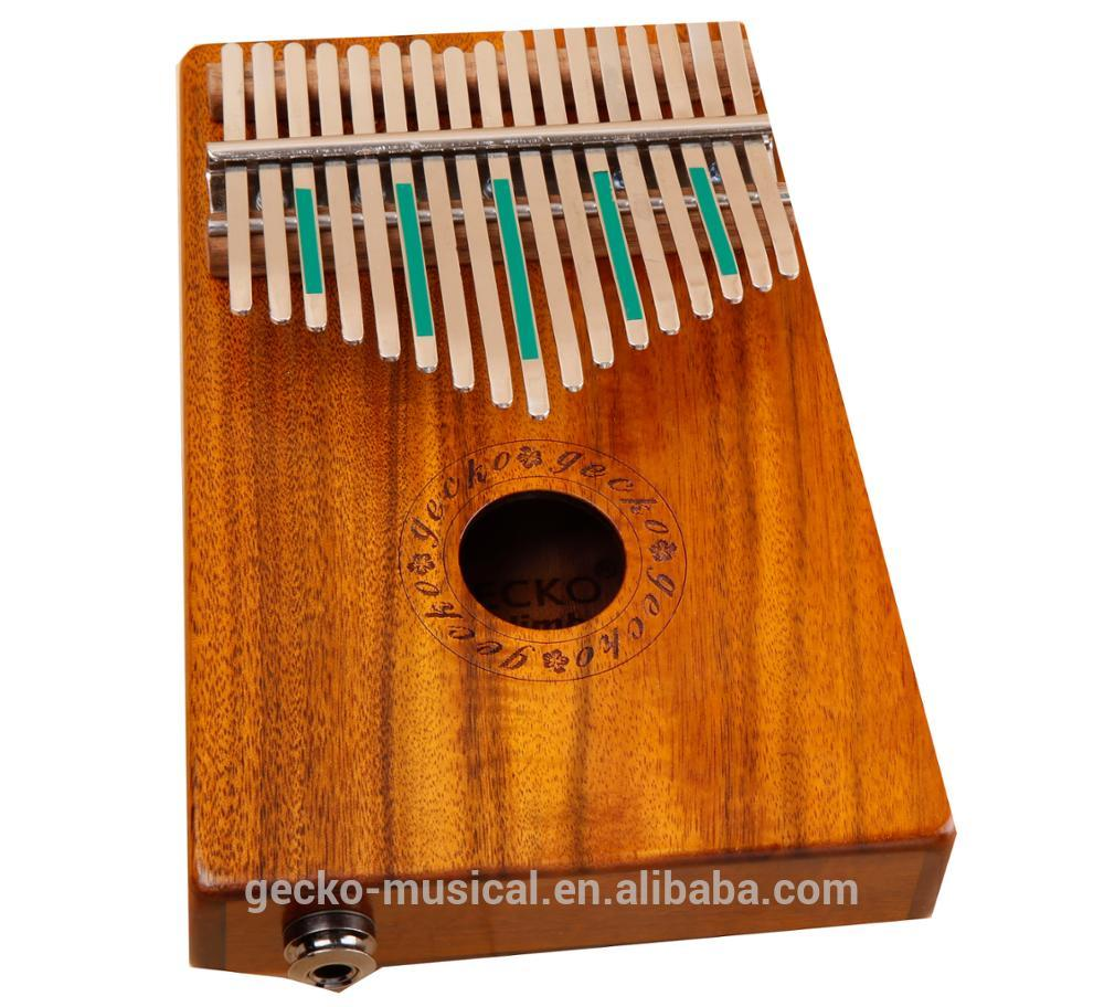 KOA Wood 17 Key Kalimba with EQ Gecko Professional thumb piano wood kalimba