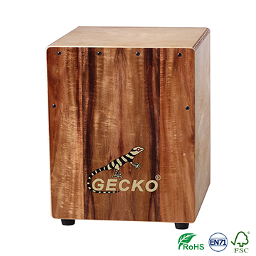 percussion musical instrument Cajon KOA top box drum