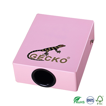 pink color drum for kids travelling cajon