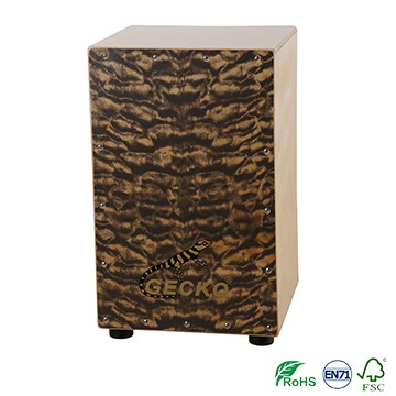 High definition Top Rated Cajon Drums - Professional Manchurian Nature Color Cajon, Guitar String Cajon, Cajon Drum – GECKO