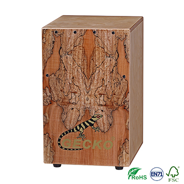 2018 High quality Hands Free Ukulele Strap - Spalted Maple percussion drum box for Professoinal player – GECKO