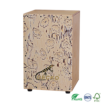 China Factory for Portable Guitar - Wholesale Handmade Birch Pollard Willow Wood Hand Drum Box Percussion Nature Color Cajon – GECKO