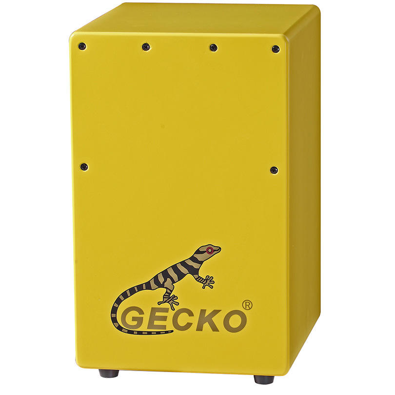 Top Grade Strings For Ukulele - yellow cajon for gecko brand,color paint,imported birch wood for children playing – GECKO