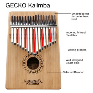 Africa Kalimba Thumb Piano 17 keyboards/Bamboo And Metal Kalimba New