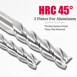 End Mill for Aluminum Carbide Tungsten EndMills Staright Shank 3Flutes 1-25mm HRC45 Square Milling Cutter CNC Machine tools