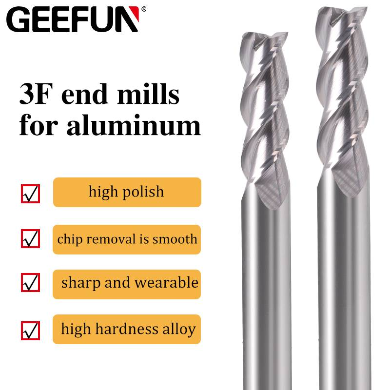 3F end mills for aluminum