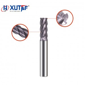 Good Quality Solid Carbide 4 Flutes Square End Mills Cutter Tisin Coating - Solid Carbide 4 Flutes Corner Radius End Mill(Unequal Flute) – jifeng