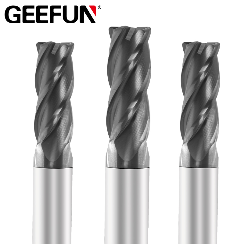 HRC50 Tungsten Steel Carbide End Mill Cutter 4 Flutes CNC Milling Cutting Tool