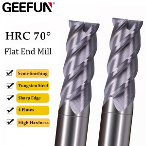 Milling Cutter Alloy Coating Tungsten Steel Tool Cnc Maching Hrc70 Endmill high hardness Semi-finishing Milling Cutter Milling Machine Tools
