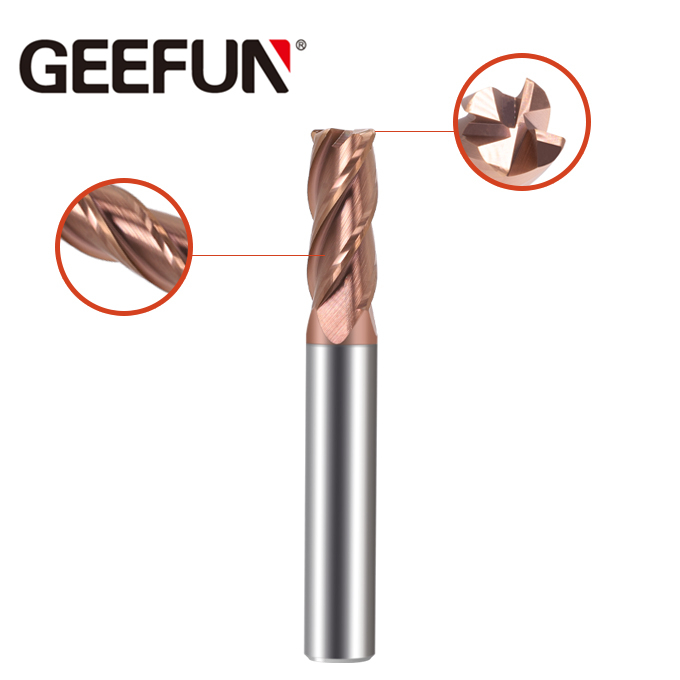Solid Carbide 4 Flutes Corner Radius End Mill (Ongelyke fluit)