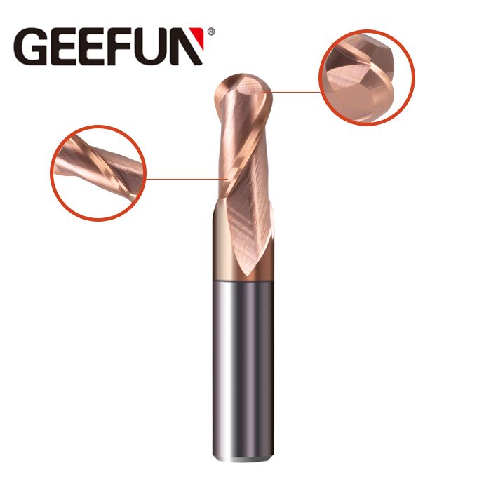Solid Carbide to fløyter Ball Nose End Mill