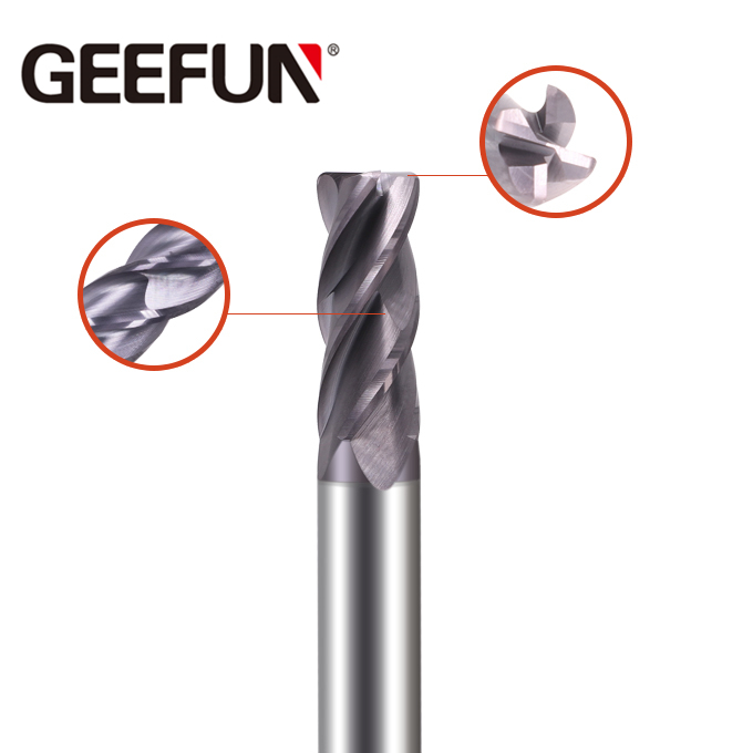 Solid Carbide 4 Flutes Corner Radius End Mill (Variable Helix)