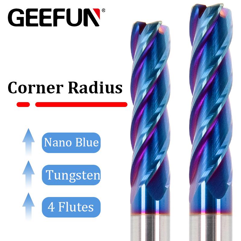 HRC65 4 flutes Lengthen End Mill milling cutter high hard materials NACO-blue