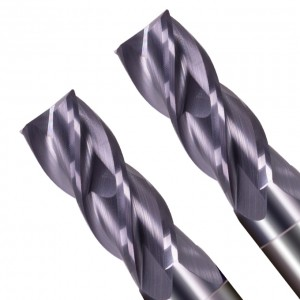 Milling Cutter Cutting Stainless Steel Alloy Coating Tungsten Steel Tool Cnc Maching Hrc70 Square Endmill Top Machine Endmill 4Flute 37°/ 38°Variable Helix