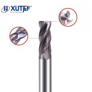 Chinese Professional Carbide Ball Nose End Mill - Solid Carbide 4 Flutes Corner Radius End Mill(Variable Helix) – jifeng