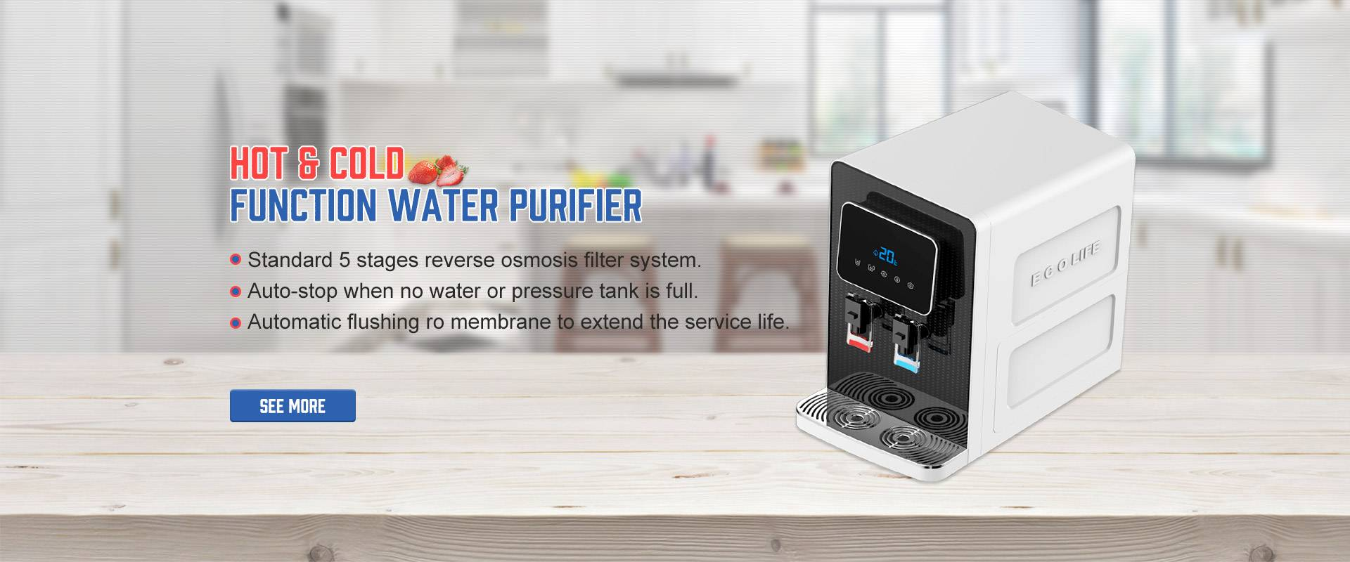 Hot & cold function water purifier