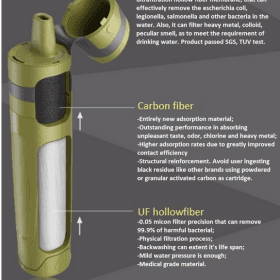 Outdoor Green Carbon UF water filter