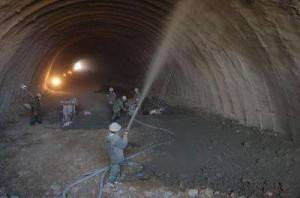 China Shotcrete special used in the tunnel and bridge.
