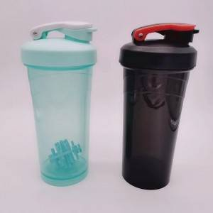 Food grade pp plastic shake cup 400ml fitness muscle protein powder stir cup SKB1043
