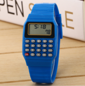 Wholesale Multi Color NEW children Wristwatch boys and girls students watch electronic watch LED Calculator watch LW0107