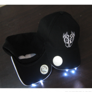 Custom design led bottle opener baseball cap built in five led lights CAP0300