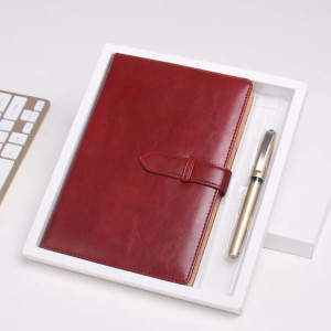 Creative Loose-leaf Office Stationery Notebook Note Retro Business Binder Diary Book NBK0001